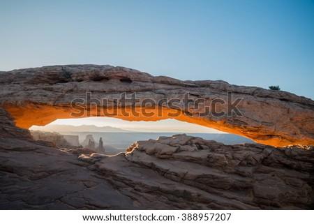 Mesa Arch at Canyonlands National Park, Utah - stock photo