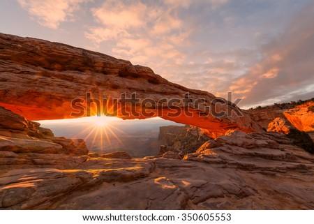 Mesa Arch Sunrise - stock photo