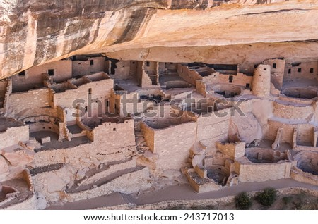Mesa Verde National Park in Colorado, USA - stock photo