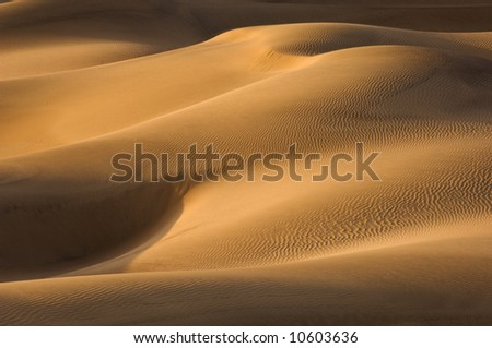 Mesquite Sand Dunes at sunset, Death Valley National Park, California, USA - stock photo
