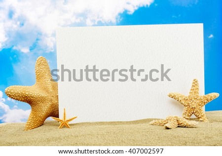 Message board on beach - stock photo
