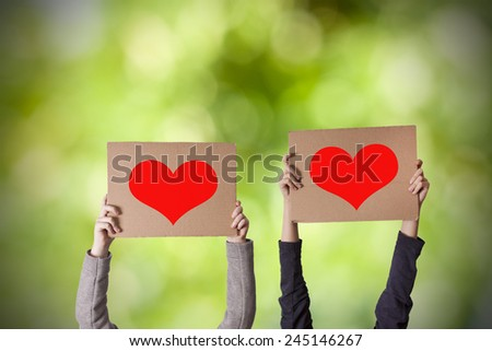message of love - stock photo