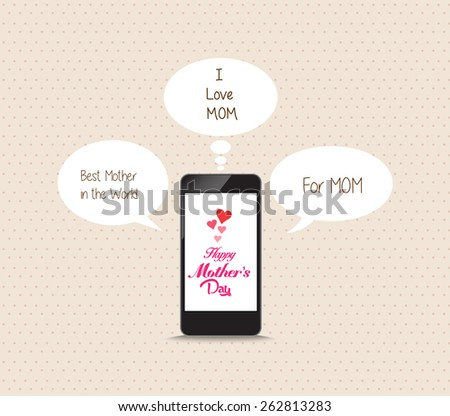message to mothers lovely frome cellphone - stock photo