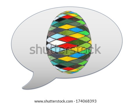 messenger window icon and Easter Egg - stock photo