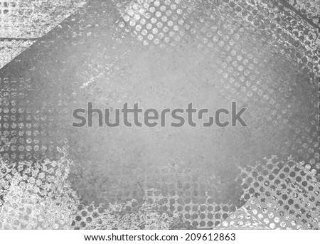 messy grunge gray background paper with textured abstract white grid pattern border  - stock photo