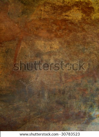 Messy iron rusty background - stock photo