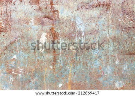 Messy rusty texture - stock photo