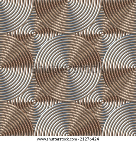 metal abstract pattern in bronze that can be seamlessly tiled - stock photo