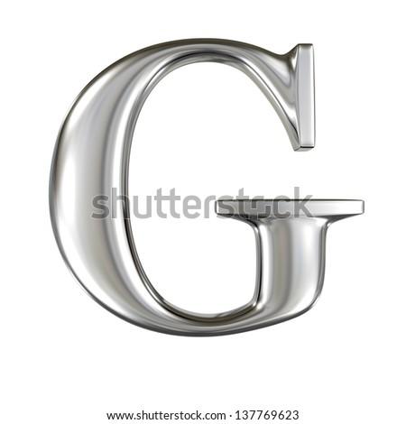 Metal alphabet symbol - G - stock photo