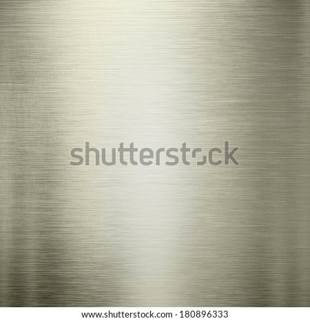 Metal background light brushed steel plate - stock photo