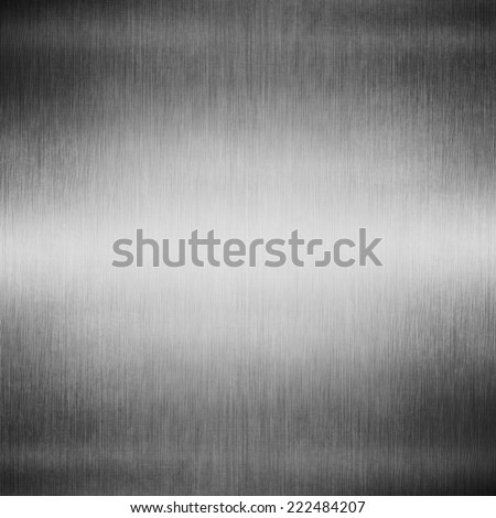 Metal background or texture of light brushed steel plate - stock photo
