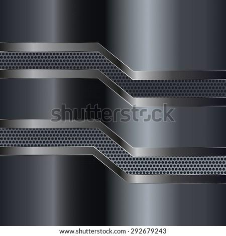 Metal background. Raster version - stock photo
