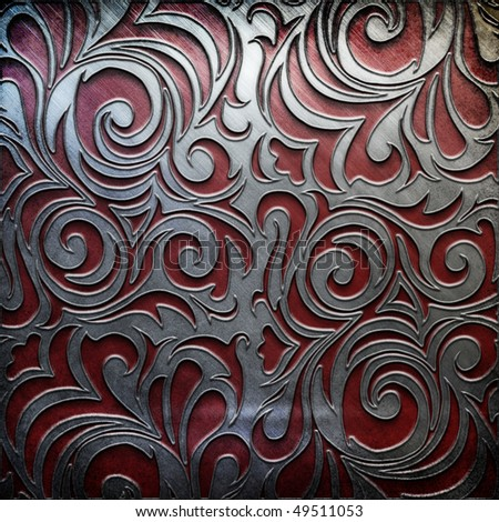 metal background - silver and red gold collection (You can find more templates and textures in my portfolio) - stock photo