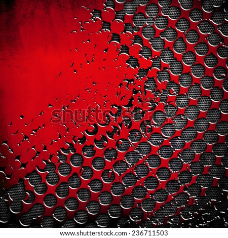 metal background with halftone pattern  - stock photo