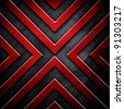 metal background with X pattern - stock photo