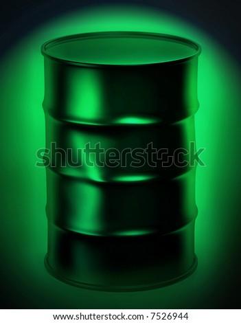 metal barrel - stock photo