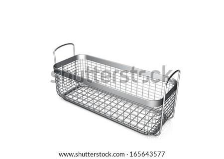 Metal basket - stock photo