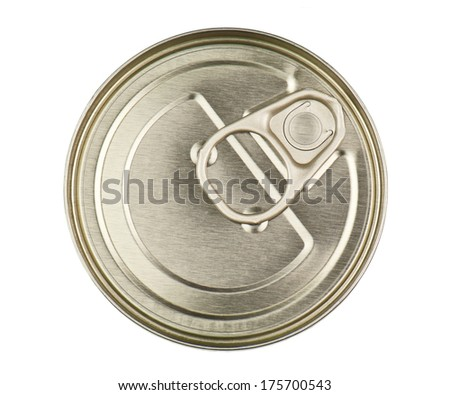 metal can on white background - stock photo