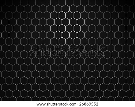 Metal cells - stock photo