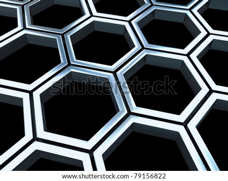 Metal cells background - stock photo