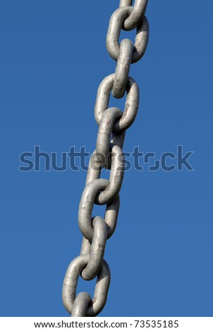 Metal chain links close up. - stock photo