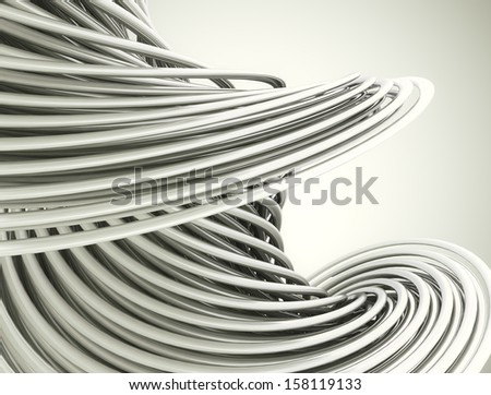 metal chrome lines background - stock photo