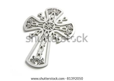metal cross - stock photo