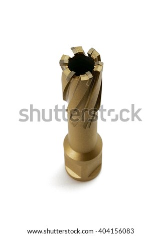 metal cutting tool for turning operations on a white background - stock photo