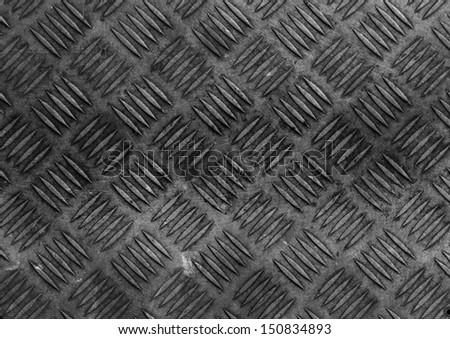 Metal diamond plate - stock photo