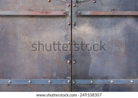 metal door rusty corroded texture background - stock photo