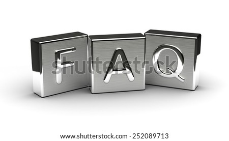 Metal FAQ Text - stock photo