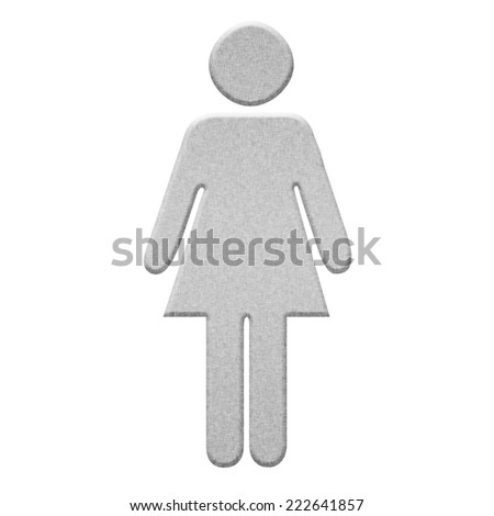 metal female restroom Signs  - stock photo