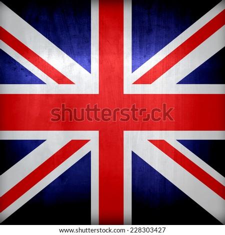 Metal Flag Of British  - stock photo