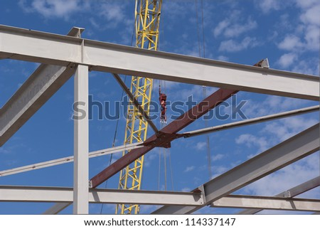 Metal frame for a building - stock photo