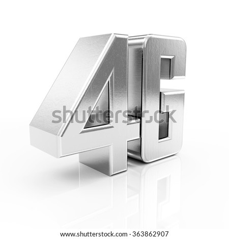 Metal 4G Symbol of Standard Wireless Communication isolated on white reflective background - stock photo
