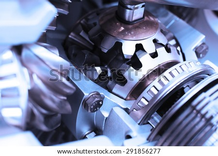 metal gear - stock photo
