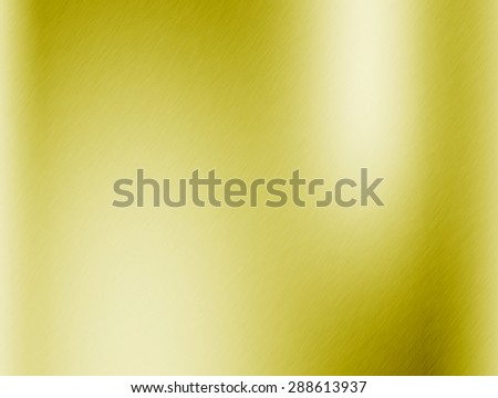 Metal gold background or texture of brushed steel plate with reflections Iron - stock photo