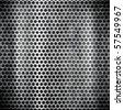 metal grid - stock photo