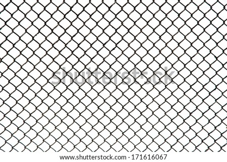 metal grid on a white background - stock photo