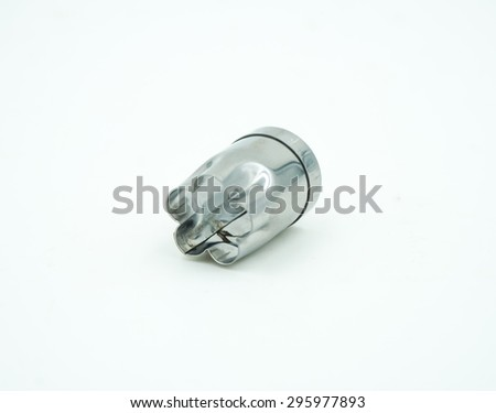 metal icing tips for decorating cakes and cookies - stock photo