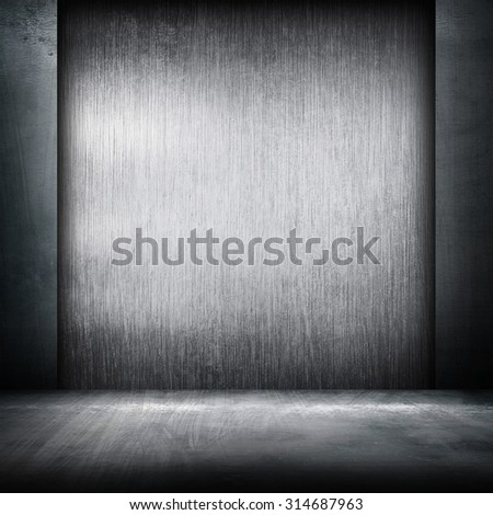 metal interior background - stock photo