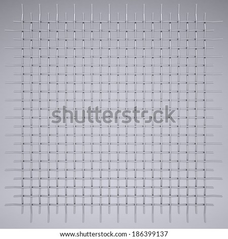 Metal mesh. Render on a gray background - stock photo