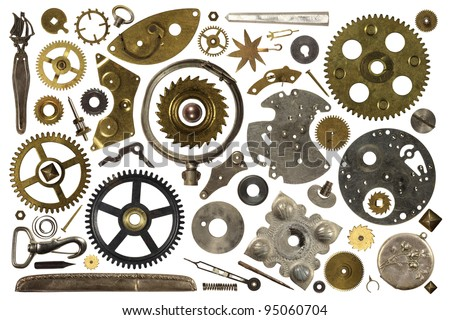 metal objects vintage - stock photo