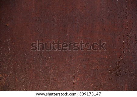 metal painted rusty red brown old shabby cracked - stock photo