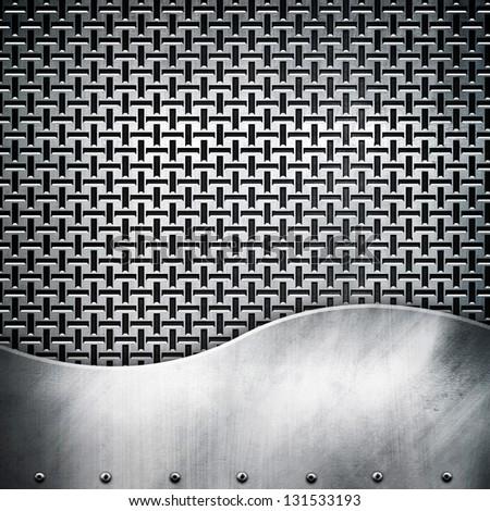 metal pattern background - stock photo