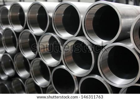 Metal pipe - stock photo