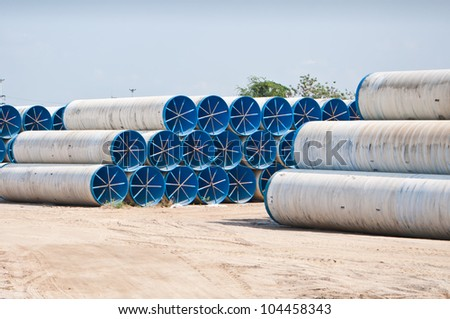 Metal pipe for water city supply - stock photo