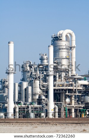 metal pipelines petrochemical industry - stock photo