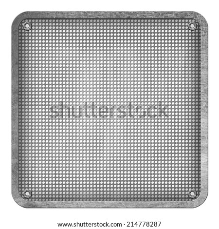 metal plate background - stock photo