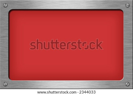 Metal plate series: rectangle. With room for text. - stock photo